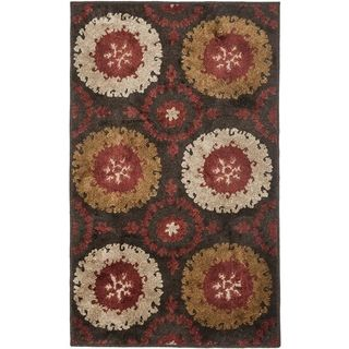Safavieh Kashmir Traditional Brown Rug (8 X 10)