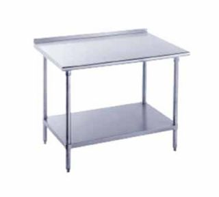 Advance Tabco 84 Work Table   Raised Rear Edge, 30 W, 16 ga 304 Stainless