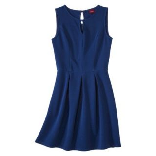 Merona Womens Textured Sleeveless Keyhole Neck Dress   Waterloo Blue   XL