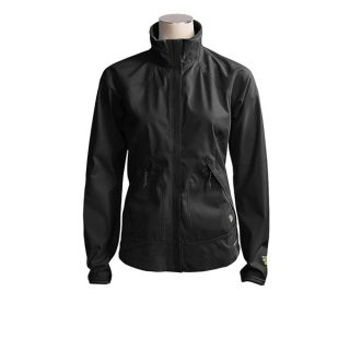 Mountain Hardwear Tempo Jacket   Windstopper(R) (For Women)   BLACK/BLACK (XS )