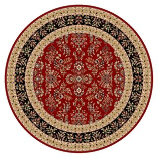 Lyndhurst Collection Red/ Black Rug (8 Round) (RedPattern OrientalMeasures 0.375 inch thickTip We recommend the use of a non skid pad to keep the rug in place on smooth surfaces.All rug sizes are approximate. Due to the difference of monitor colors, som