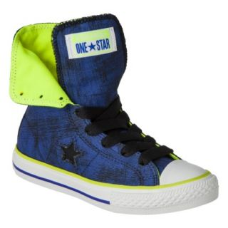 Boys Converse One Star High Top Sneaker   Navy 5.5