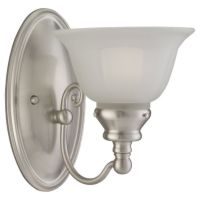 Sea Gull Lighting SEA 44650 962 Canterbury One Light Brushed Nickel Wall Sconce