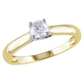 1/3 Carat Diamond in 14k White and yellow Gold Ring (Size 5)