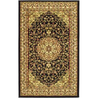 Lyndhurst Collection Black/ Ivory Rug (33 X 53)