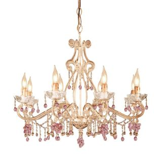Crystorama Paris Flea Market Chandelier   27W in. Champagne Multicolor   4509 CM