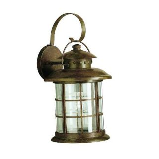 Kichler 9762RST Outdoor Light, Transitional Wall Bracket 1 Light Fixture Rustic