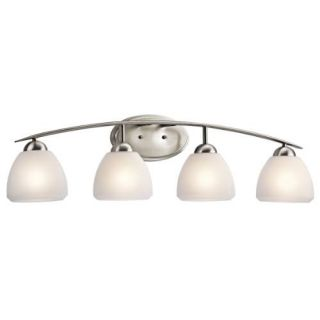 Kichler 45120NI Bathroom Light, Transitional Bath 4Light Fixture Brushed Nickel