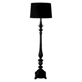 Threshold Double Socket Floor Lamp   Black