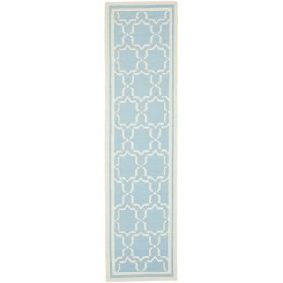 Safavieh Dhurries Light Blue/Ivory Rug DHU545B Rug Size Runner 26 x 12