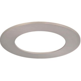Halo TRM490SN LED Downlight Trim Accessory, 6 Trim Ring Replacement Satin Nickel
