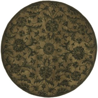 Safavieh Antiquity Olive/Green Rug AT824A Rug Size Round 6