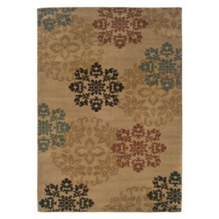 Fairfield Dinah Floral Area Rug   Beige/Blue/Brown (5x73)
