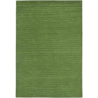 Hand crafted Solid Color Vinyasa Halcyon Sage Green Rug (36 X 56) (Sage greenPattern SolidTip We recommend the use of a non skid pad to keep the rug in place on smooth surfaces.All rug sizes are approximate. Due to the difference of monitor colors, some