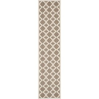Safavieh Indoor/ Outdoor Courtyard Brown/ Bone Stain Resistant Rug (23 X 67)