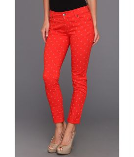 TWO by Vince Camuto Shorty Jean In Floral Stars in Fiery Red Womens Jeans (Red)