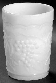 Imperial Glass Ohio Vintage Grape Milk Glass 8 Oz Flat Tumbler   Milk Glass,Grap