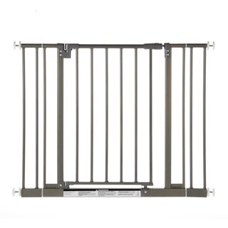 North States Easy close Burnished Steel Metal Gate (Burnished steelGate swings open both waysSafety JPMA approvedMaterials MetalDimensions 2.88 inches x 28.25 inches x 29.88 inchesImported )