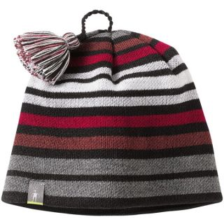 SmartWool Warm Wintersport Stripe Beanie Hat   Merino Wool (For Kids and Youth)   BLACK (L/XL )