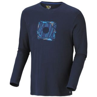 Mountain Hardwear Abstract Hex Classic T Shirt   Long Sleeve (For Men)   COLLEGIATE NAVY (L )