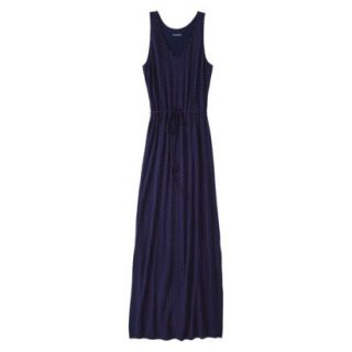 Merona Petites Sleeveless Maxi Dress   Navy L