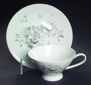 Rosenthal   Continental Birds On Trees Footed Cup & Saucer Set, Fine China Dinne
