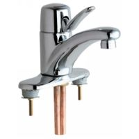 Chicago Faucets 2200 4E2805CP Universal Deck Mounted Single Handle Faucet