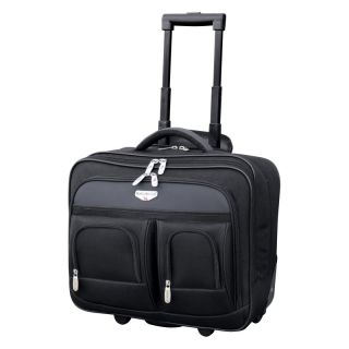 Travelers Club Luggage 17 in. Dual Section Rolling Briefcase With Padded Laptop