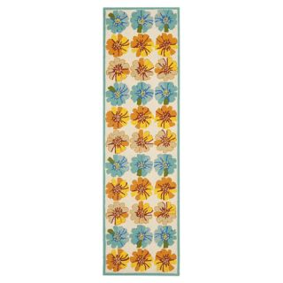 Safavieh Four Seasons Ivory / Blue Rug FRS469A Rug Size Runner 23 x 6