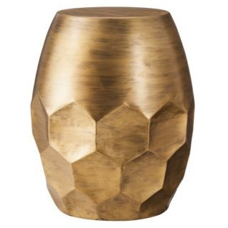 Accent Table Threshold Round Metal Honeycomb Accent Table   Gold