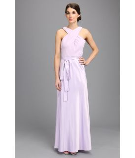 Donna Morgan Criss Cross Top Long Gown Dress Womens Dress (Purple)