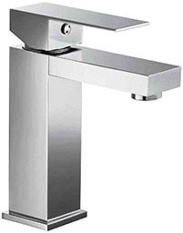 Alfi Brand AB1229PC Bathroom Faucet, Square Single Handle Polished Chrome