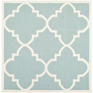 Safavieh Dhurries Light Blue/Ivory Rug DHU633C Rug Size Square 6 x 6