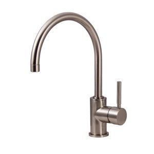 Water Creation F5 0003 02 Monroe Gooseneck Kitchen Faucet With Mounting Plate an
