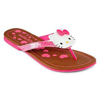 Hello Kitty Ellen Girls Flip Flops, Pink, Girls