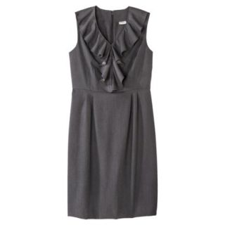 Merona Petites Sleeveless Sheath Dress   Gray 4P