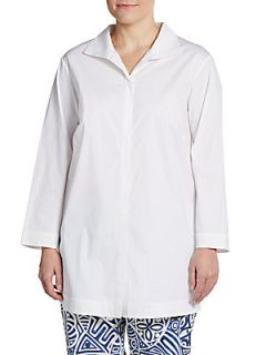 Cotton Blend Shirt   White