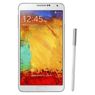 Samsung Galaxy Note III N9000 Unlocked Cell Phone, brightspot Compatible   White