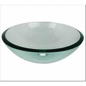 Aquabrass AB GC191 Clear Glass Round Clear Tempered Glass Basin
