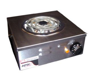 APW Wyott Portable Electric Hot Plate w/ Spiral Element, 120 V