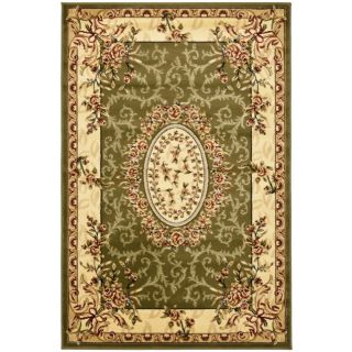 Safavieh Lyndhurst Collection Aubussons Sage/ Ivory Rug (4 X 6)