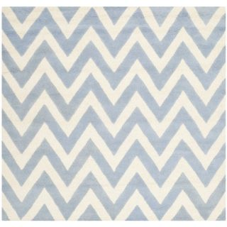 Safavieh Cambridge Light Blue / Ivory Rug CAM139A  Rug Size Square 6 x 6