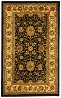 Lyndhurst Collection Majestic Black/ Ivory Rug (33 X 53) (BlackPattern OrientalMeasures 0.375 inch thickTip We recommend the use of a non skid pad to keep the rug in place on smooth surfaces.All rug sizes are approximate. Due to the difference of monito