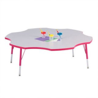Jonti Craft Rainbow Accents KYDZ  Toddler Height Activity Table  Six Leaf(60