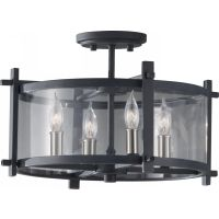 Feiss SF292AF BS Ethan 4   Light Indoor Semi Flush Mount