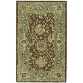 Safavieh Antiquities Brown/Green Rug AT21G Rug Size 3 x 5