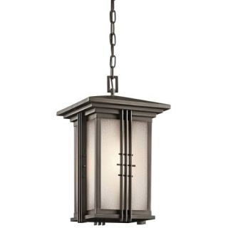 Kichler 49161OZ Outdoor Light, Arts and Crafts/Mission Pendant 1 Light Fixture Olde Bronze
