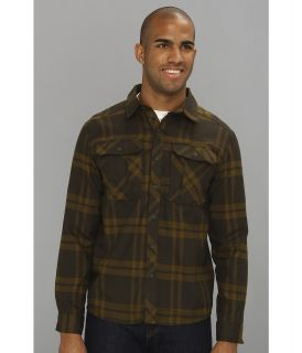 Mountain Hardwear Trekkin Flannel L/S Shirt Mens Long Sleeve Button Up (Green)