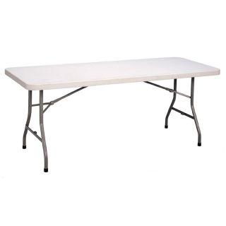 Correll 72 in. Rectangle Blow Molded Folding Banquet Table Multicolor   FS3072