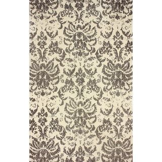 Nuloom Transitional Damask Microfiber Brown Rug (5 X 8)